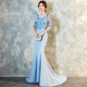 Blue wedding evening prom dress gown RBP1358
