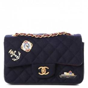 CHANEL Felt Quilted Paris-Hamburg Charms Mini