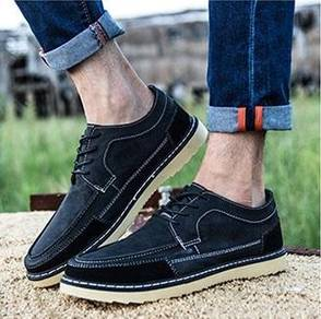 0238 Retro Black Dock Boat Business Kasut Shoes
