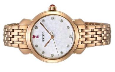 Seiko Ladies Quartz Swarovski Watch SUR624P1