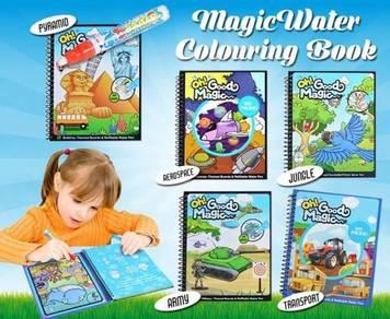 Magic water colouring book
