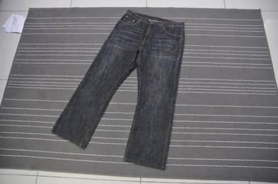 Calvin Klein Jeans hitam boot cut w34-35