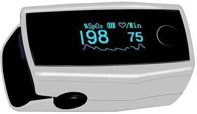 Fingertip pulse oximeter oxygen & pulse