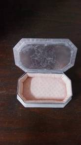 Antique pure silver trinket box 1960s