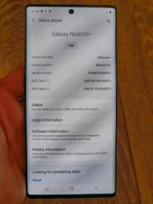 Samsung Galaxy Note 10 Plus + 256GB Rom 12GB Ram N