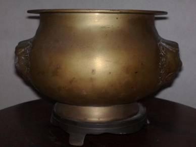 3501 Tembaga oriental incense holder bronze brass