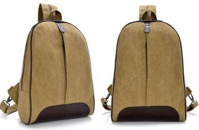 DeMartino Stylish Dual Use Bag Backpack - Khakis