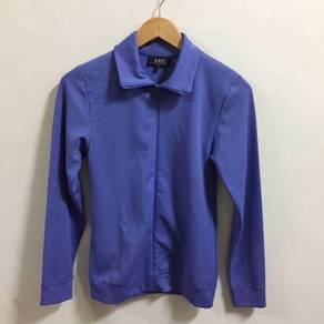 Vintage APC Purple Jacket Size S Made In France tr