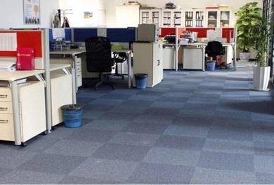 Blue caro Carpet tile for great offer