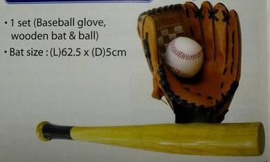 Wooden Baseball Bat Set (PJ)
