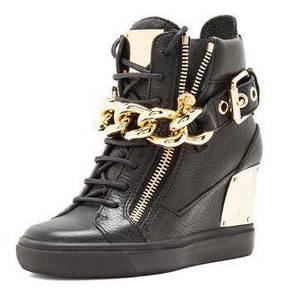 Black high cut dancing shoes heels RBH0001