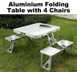 Folding Fold Foldable Table and 4 Chair