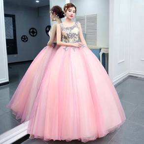 Pink blue cream prom wedding ball dress RB0812