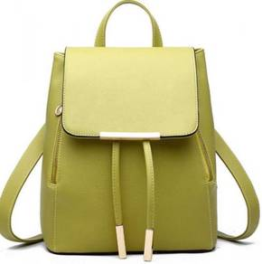 Aurora Korean Classic Bag Stylish Backpack - Green