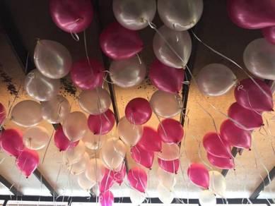 736) ceiling helium balloon deco