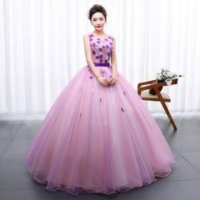 Pink prom wedding bridal ball dress gown RB0815