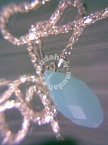 ABPJ-P009 Swarovski Teardrop Lt Purple Ja Necklace