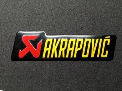 Emblem Aluminium Akrapovic Exhaust Panjang- Saiz S