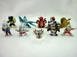 Mini PVC Ultraman Action Figure toy 10 pieces