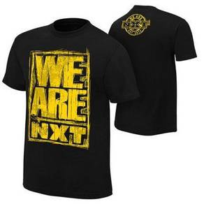 WWE WWF T Shirt NXT Black - Yellow Logo Baju