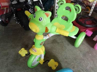 Kids cow trycycle light green color