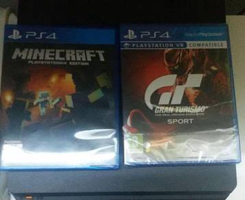 PS4 Games Minecraft Gran Turismo GT Sport NEW