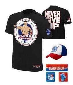 WWE WWF John Cena T Shirt Full Set 2016 Topi Band