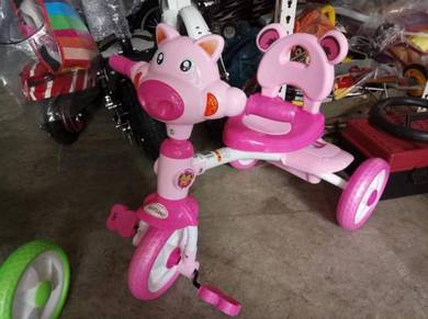 Kids cow trycycle pink color