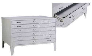 6 Drawers Horizontal Plan File Cabinet