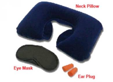 Travel Pillow Eye Cover Earplugs Neck Rest U Shape
