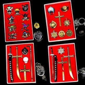 One piece keychian necklace set