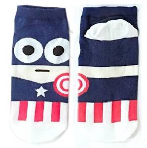 Captain america superhero cartoon socks
