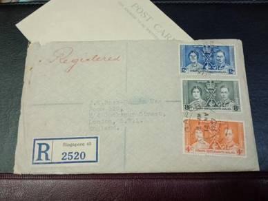FDC Straits Settlements Malaya 1937 X164