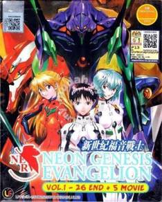 DVD ANIME NEON GENESIS EVANGELION 1-26 + 5 Movie