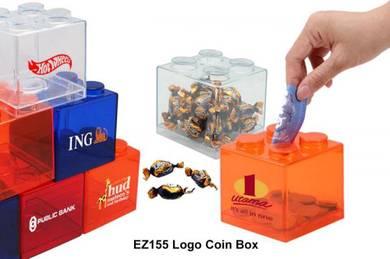 Logo Coin Bank Tabung Kotak Syiling Box