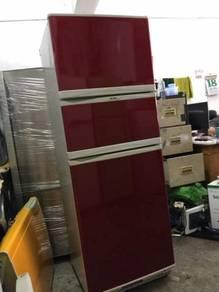 Elba Red Fridge 3 doors Refrigerator Peti Sejuk