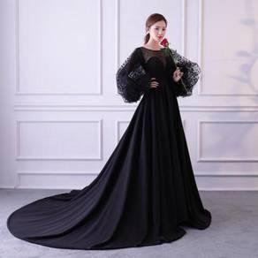Long sleeve wedding prom dress gown RBMWD0084