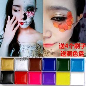 Body colour face makeup pigment cosplay halloween