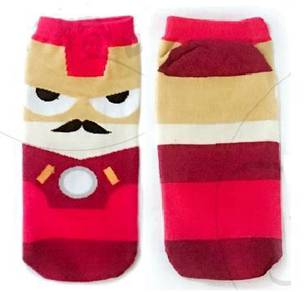 IRON MAN MARVEL SUPERHERO CARTOON SOCKS 🔥