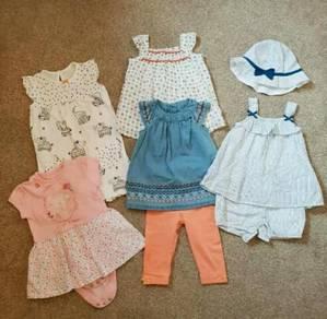 Baby Girl Dress Rompe 6m-12m