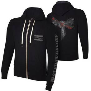 WWE WWF Hoodie CM Punk Arrow Black Baju Jacket