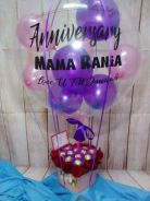 Personalized balloon + choc + flower