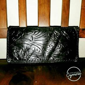 Wallet Carving Leather Unbrand