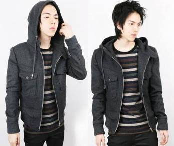 SWEATER DARK GREY NINJA HOODiE JACKET FREE POSTAGE
