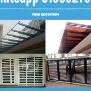 Solid Poly 3mm Pergola ACP, Gate & Grill