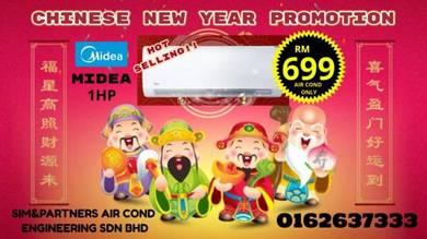 Kl/Sel Midea Acson*Aircond air cond 1hp Promo 699
