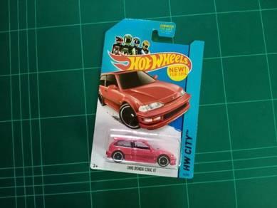 Hotwheels 90' Honda EF Red
