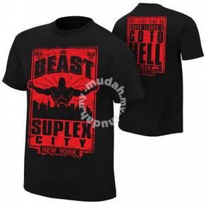 WWE WWF Baju Shirt Brock Lesnar BEAST Suplex Gusti