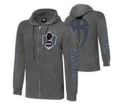 WWE WWF Hoodie Roman Reign Grey Baju Jacket