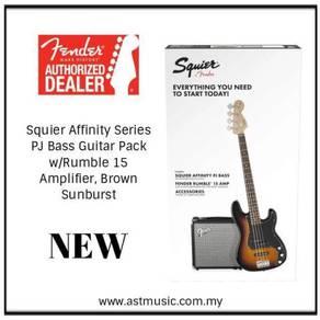 Fender Squier PJ Bass Guitar Pack w/Rumble Amp